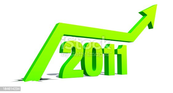 istock Up Arrow with word: 2011 184614234