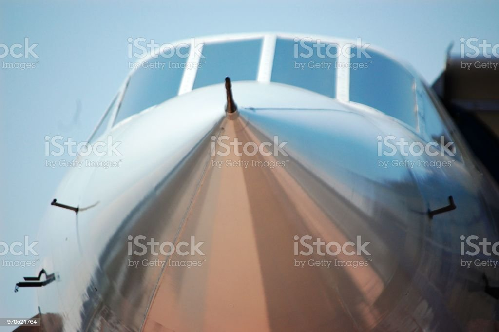 Up Close And Personal With The Concorde Jet Stock Photo