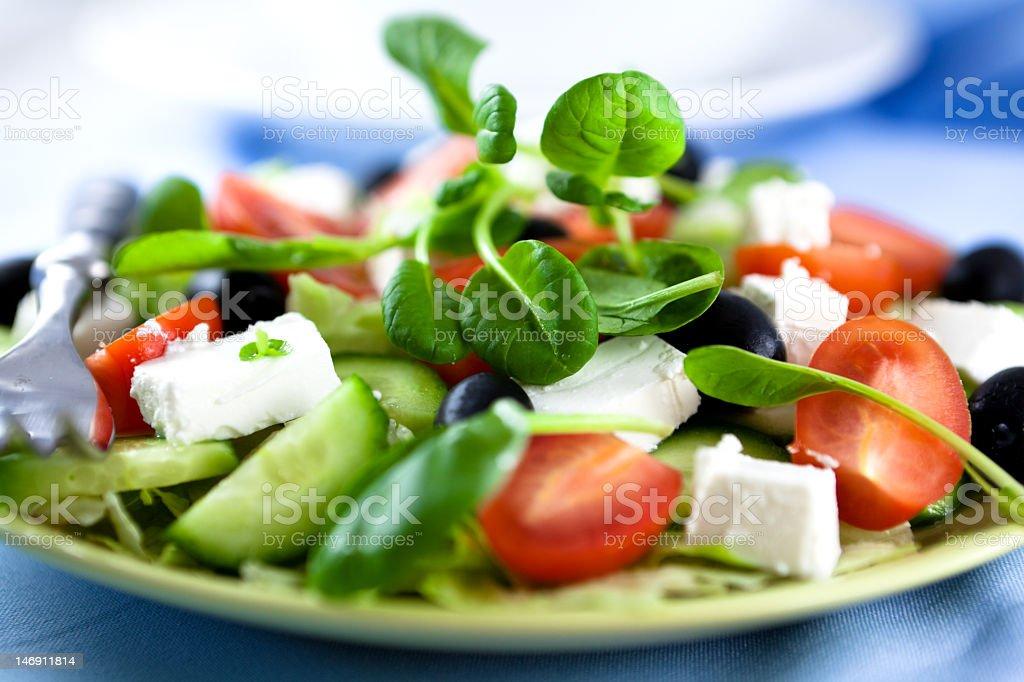 Up close photo of a green salad royalty-free stock photo