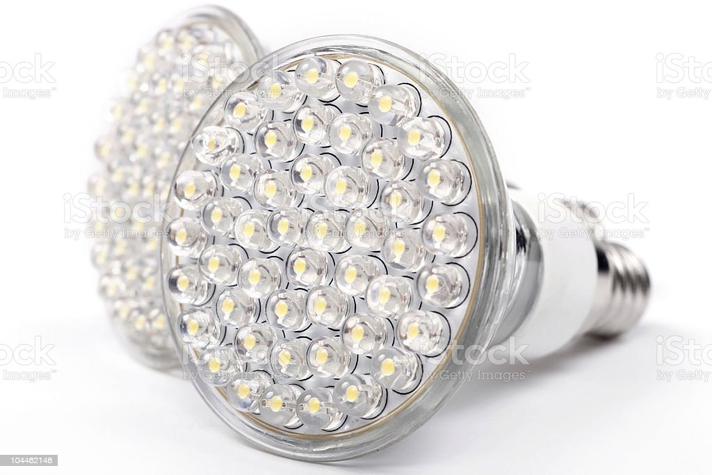 Up close photograph of led lights royalty-free stock photo