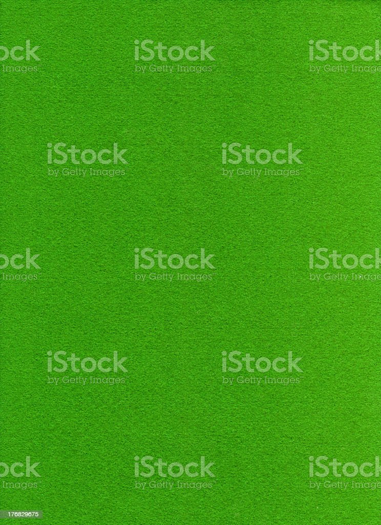 Up close shot of grass green colored felt royalty-free stock photo