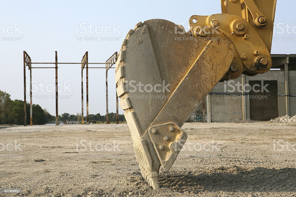 Up Close With a Back Hoe stock photo