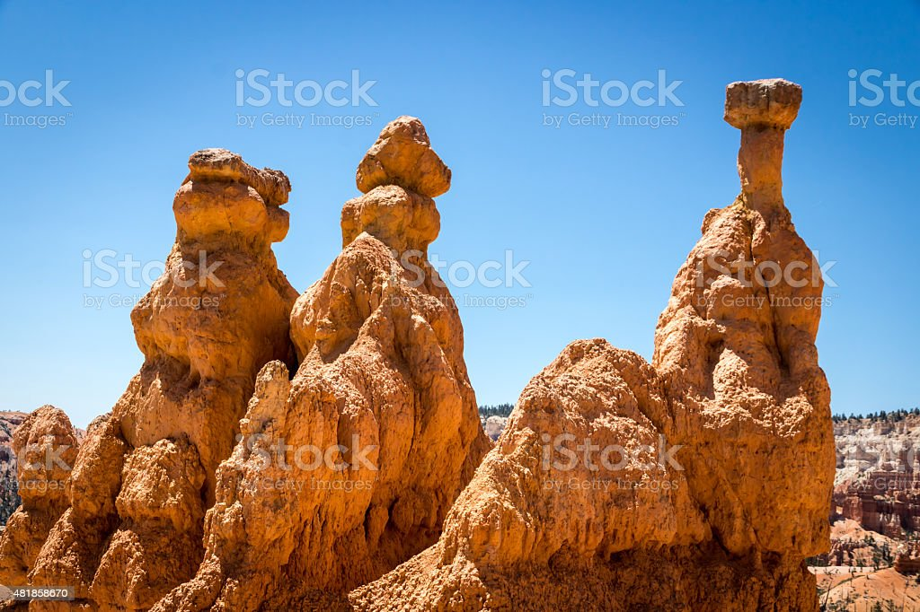 Up close with the hoodoos stock photo