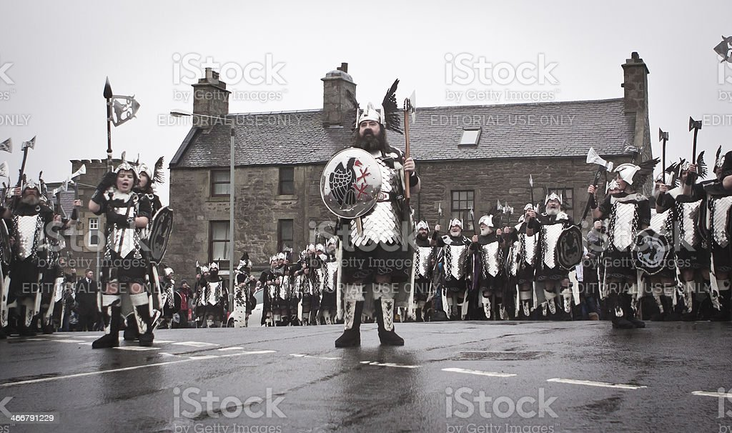 Up Helly Aa 2014 Guizer Jarl royalty-free stock photo