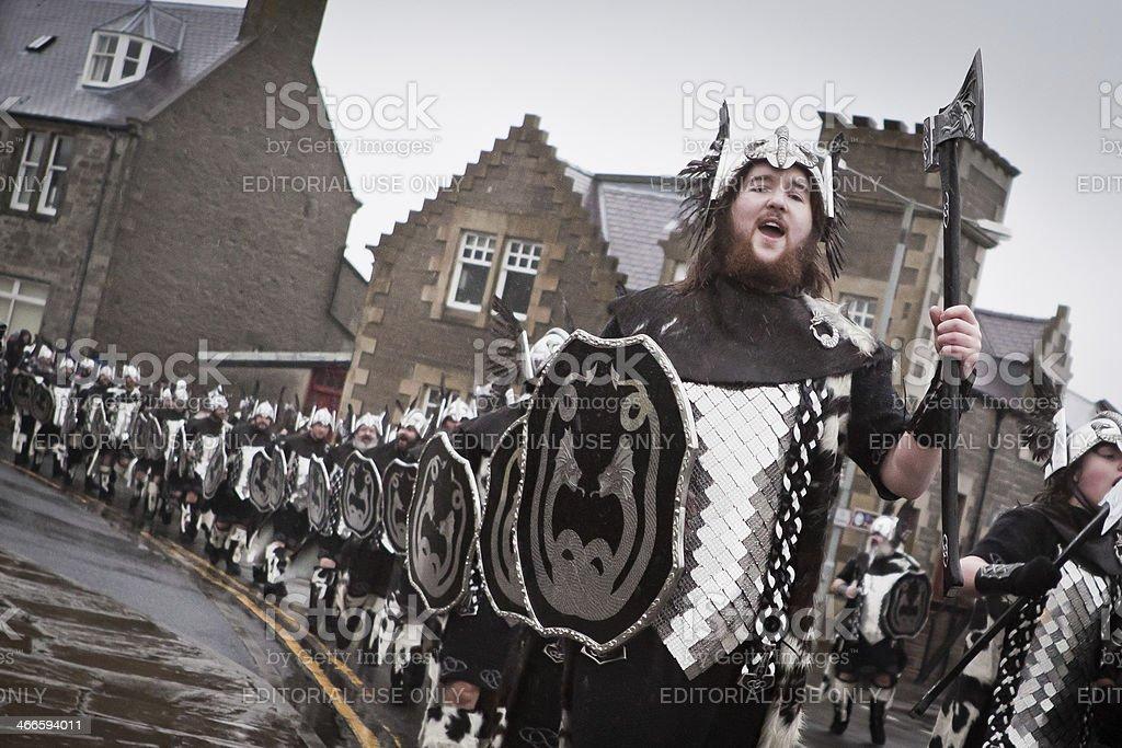 Up Helly Aa 2014 Vikings stock photo