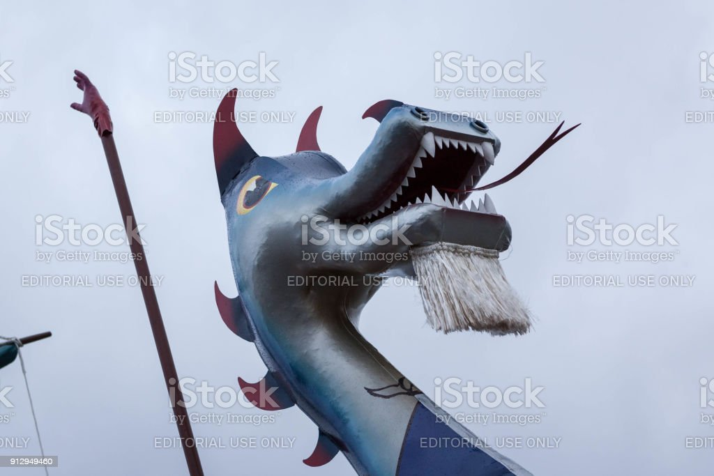 Up Helly Aa 2018 Galley Head stock photo
