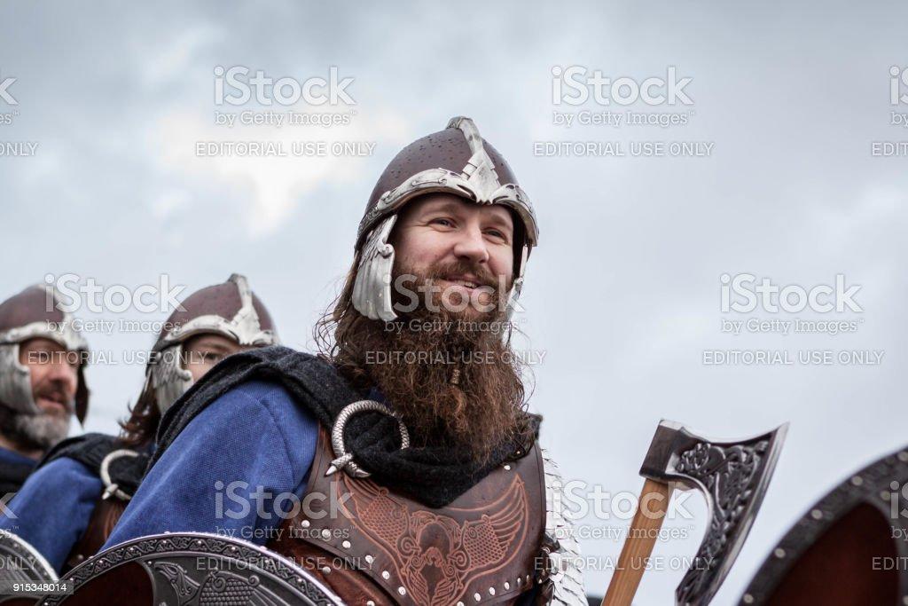 Up Helly Aa 2018 Vikings stock photo