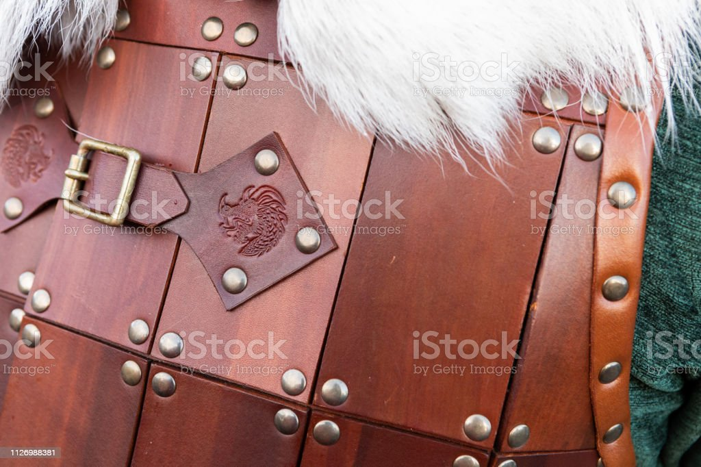 2019 Up Helly Aa Armour Suit Detail stock photo
