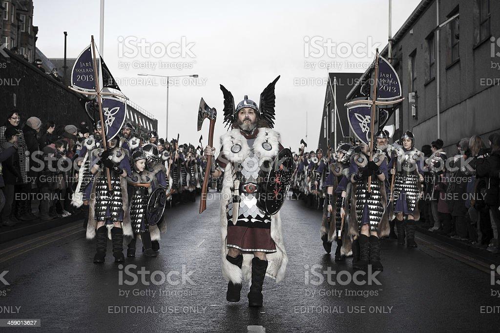 Up Helly Aa Fire Festival in Shetland Isles, Scotland, UK stock photo
