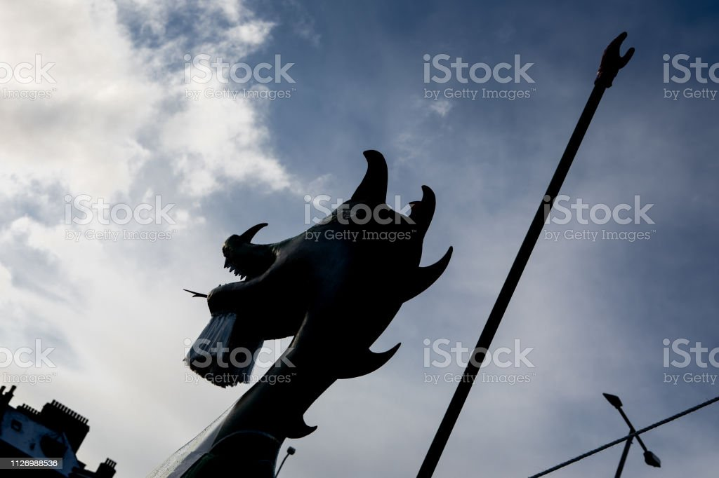2019 Up Helly Aa Galley Head stock photo