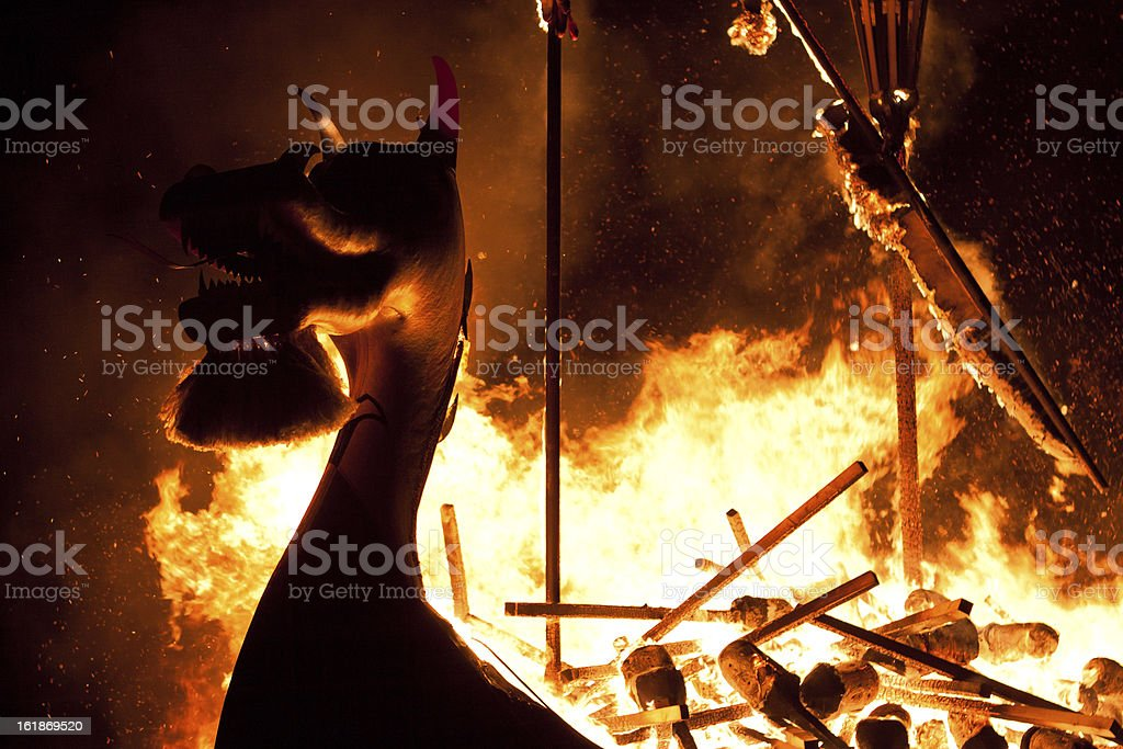 Up Helly Aa Galley Ship stock photo