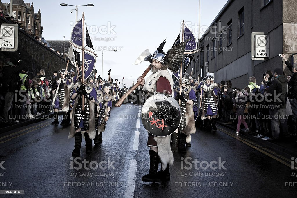 Up Helly Aa Guizer Jarl royalty-free stock photo