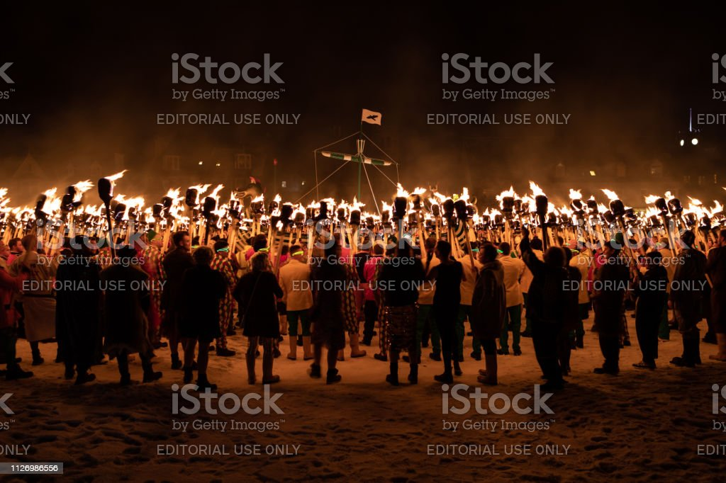 2019 Up Helly Aa Procession stock photo