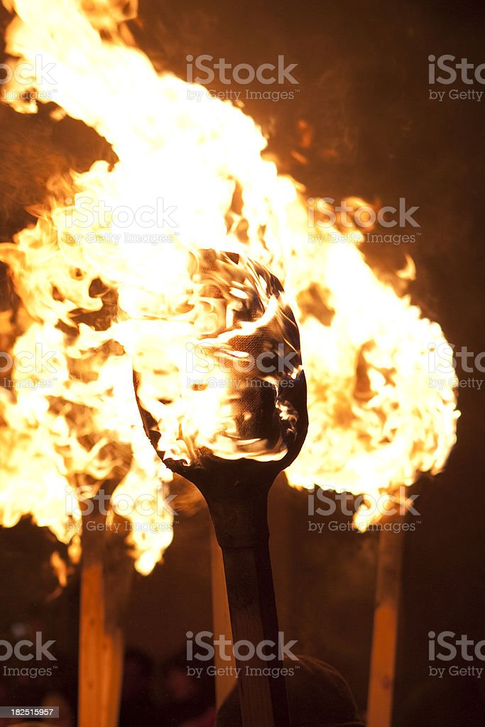 Up Helly Aa Torches royalty-free stock photo