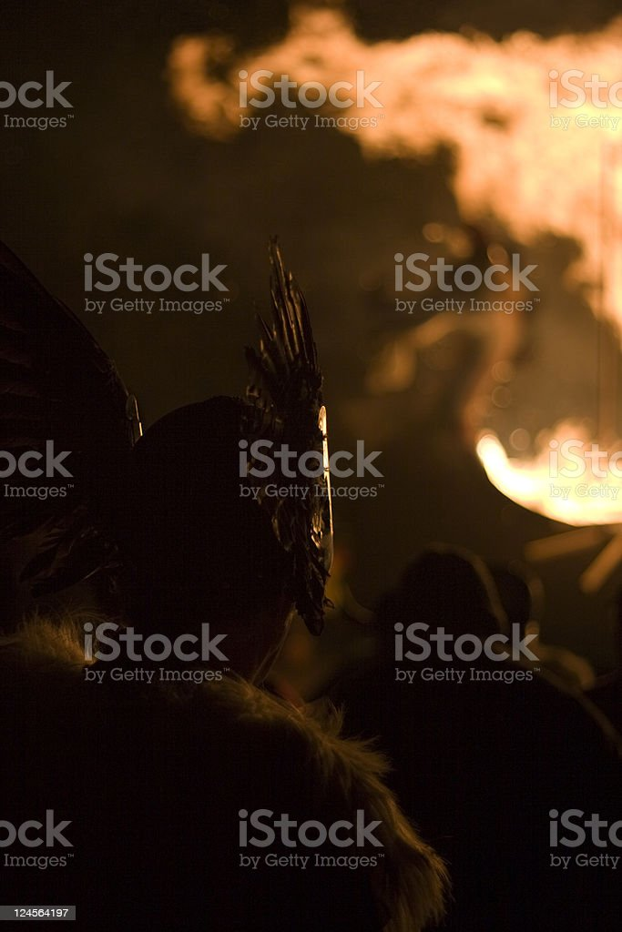 Up Helly Aa Viking and Galley Ship royalty-free stock photo