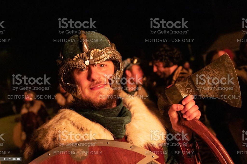 2019 Up Helly Aa Viking stock photo