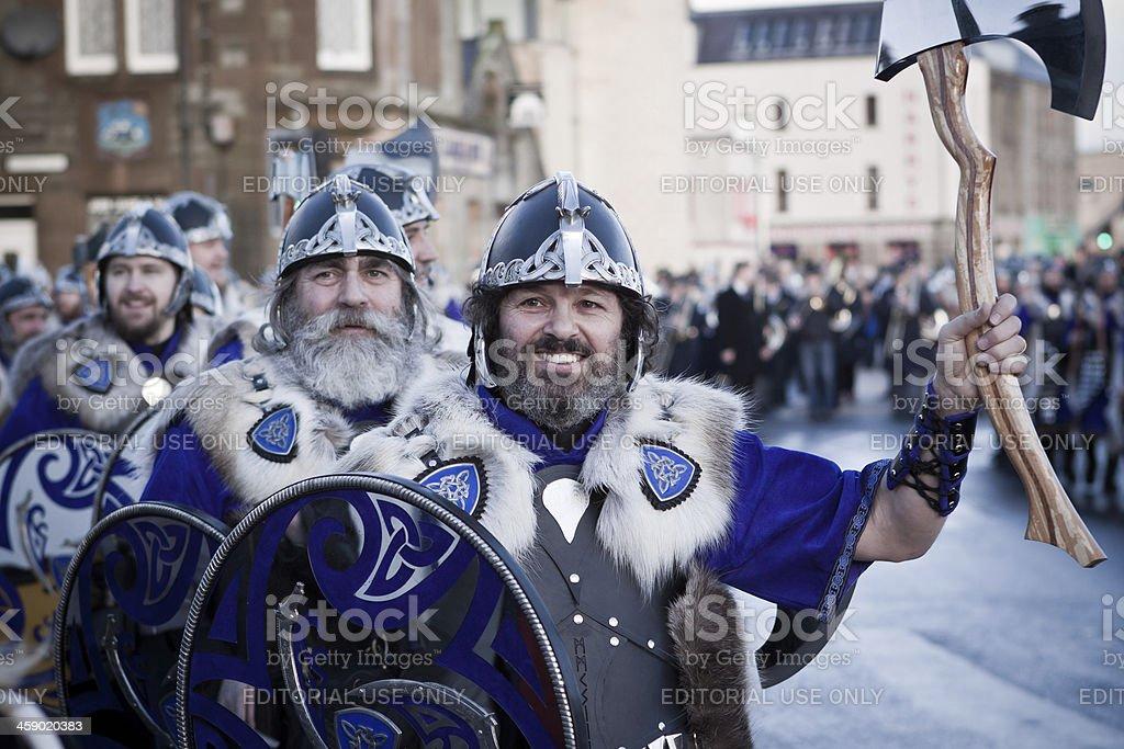 Up Helly Aa Viking royalty-free stock photo