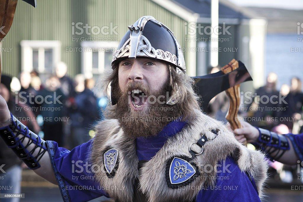 Up Helly Aa Viking stock photo