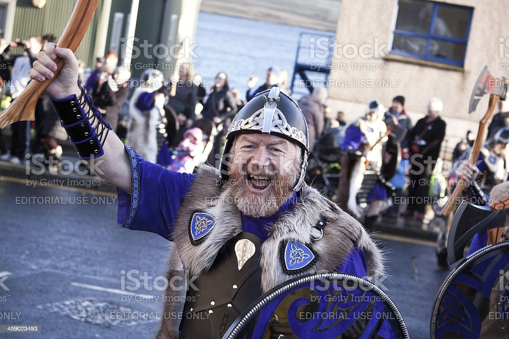 Up Helly Aa Viking Roaring to the Photographer royalty-free stock photo