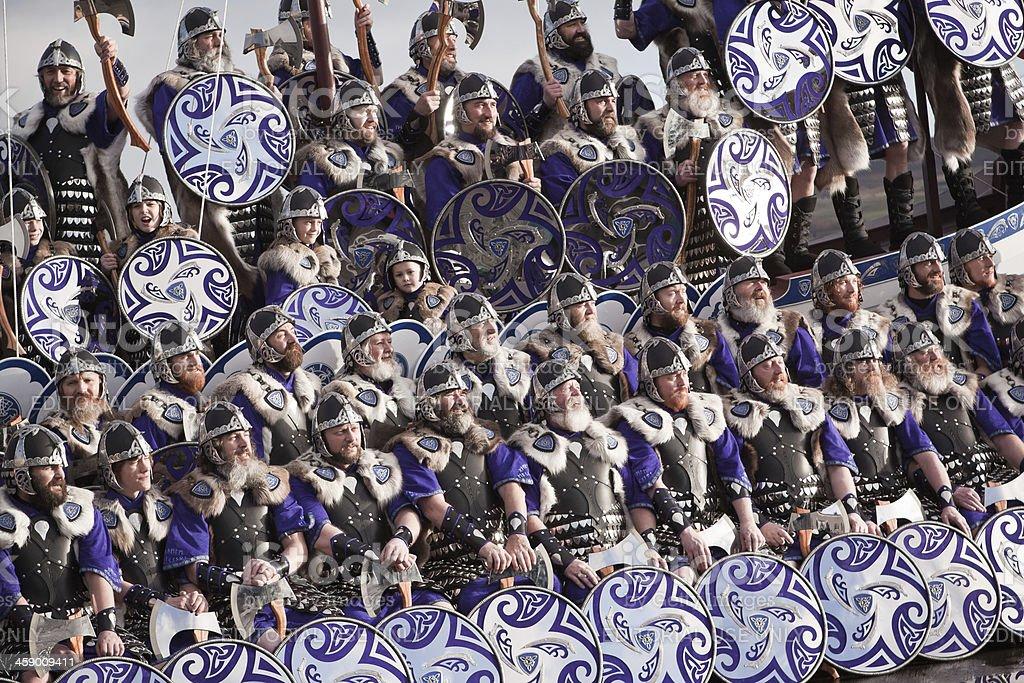 Up Helly Aa Vikings stock photo