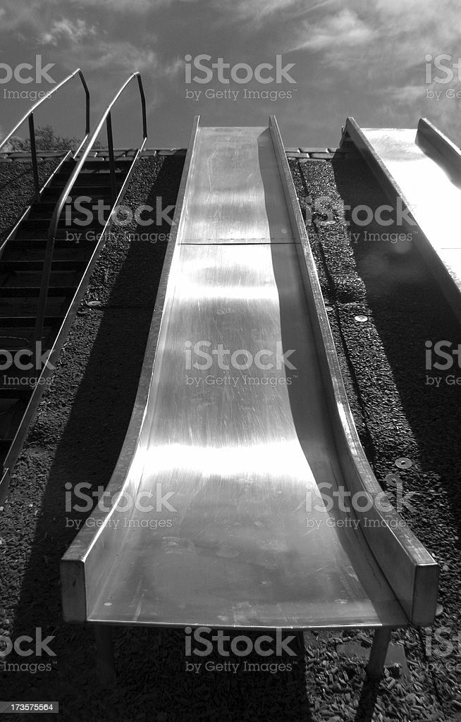 Up Hill Climb black and white royalty-free stock photo