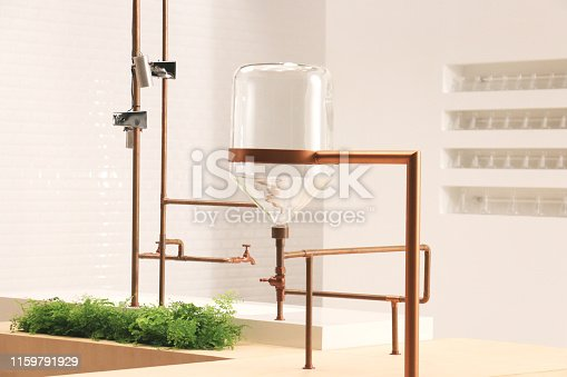 istock up side down jar hanging with copper pipe 1 1159791929