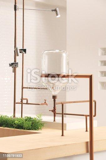istock up side down jar hanging with copper pipe 2 1159791933