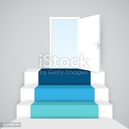 istock Up stairs 3D infographic. Template for diagram, graph, presentation and 542938184