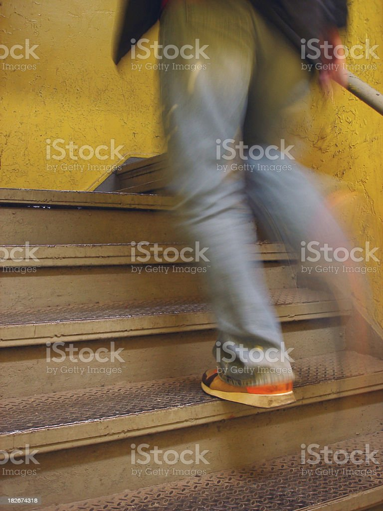 Up The Down Stairs royalty-free stock photo