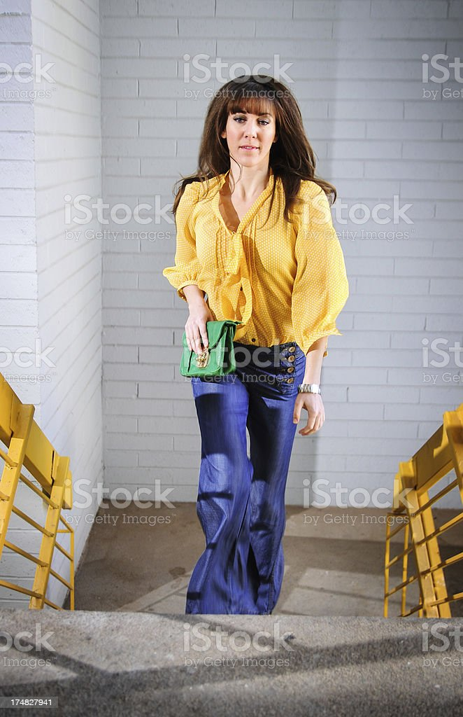 Up the stairs royalty-free stock photo
