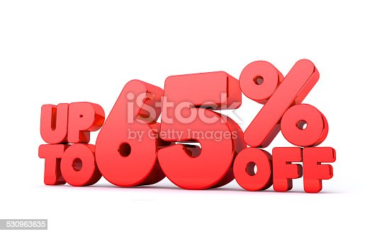 530872967 istock photo Up to 65% Off 3D Render Red Word Isolated 530963635