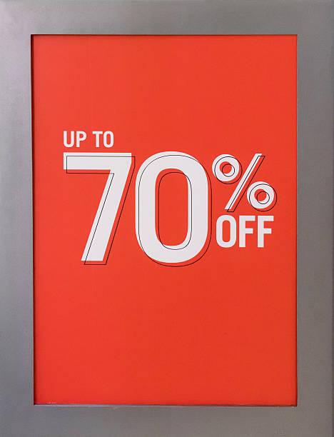 Jusqu'à 70 % de réduction sur Panneau de vente - Photo