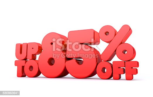 530872967 istock photo Up to 85% Off 3D Render Red Word Isolated 530963641