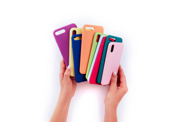 Up to date technology.Top view of diverse personal accessory stock photo
