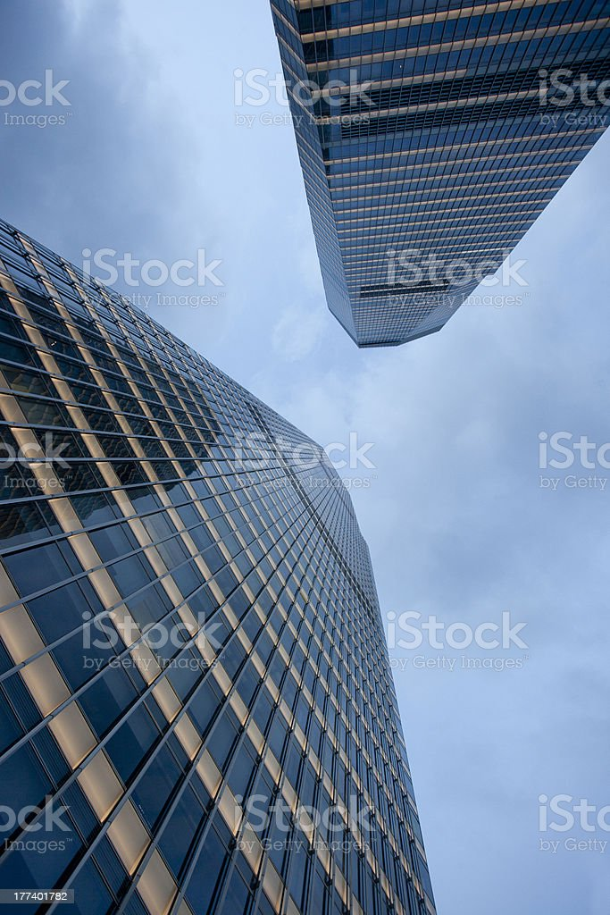 Up view of Lujiazui Office building,Shanghai royalty-free stock photo