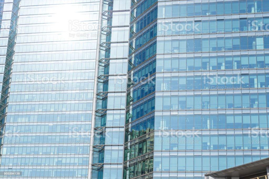 up view of modern office building - Zbiór zdjęć royalty-free (Architektura)