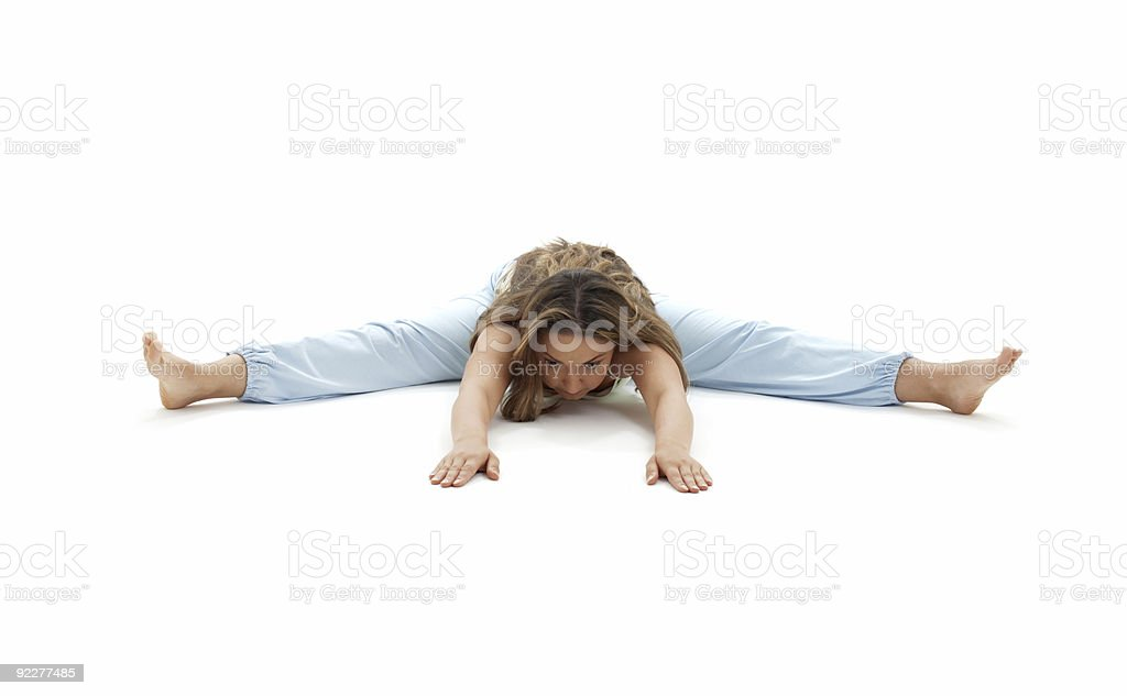 upavistha konasana wide-angle seated forward bend royalty-free stock photo