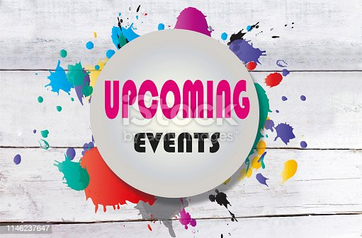istock upcoming events on wooden background 1146237647