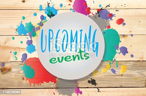 istock upcoming events on wooden background 1146238385