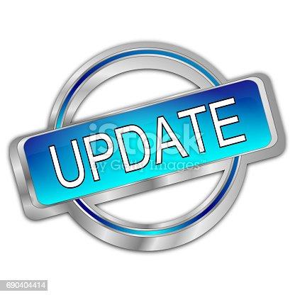 istock Update Button – 3d illustration 690404414