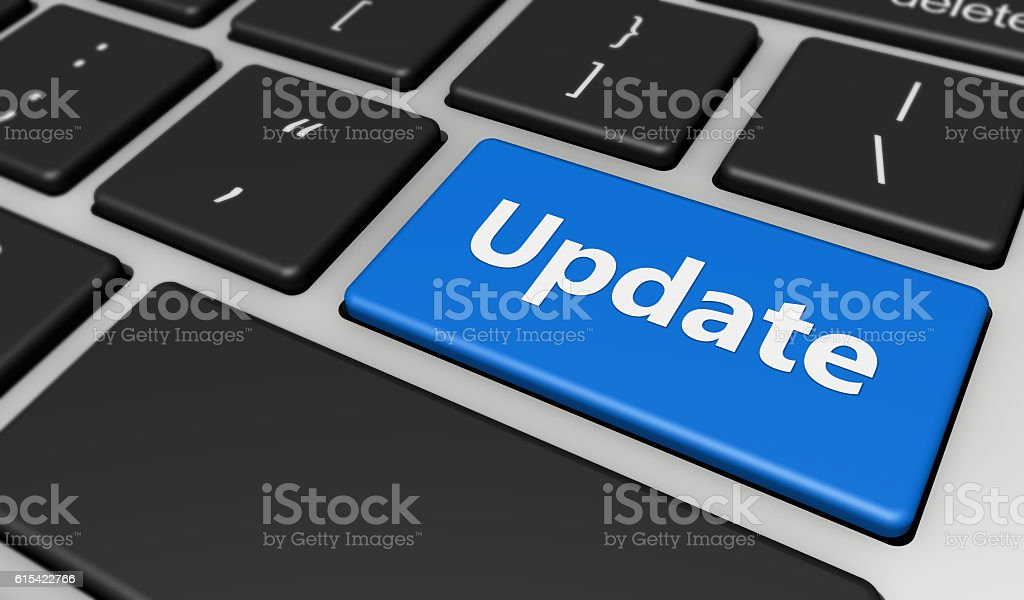 Update Computer Keyboard stock photo