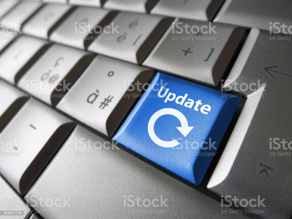 Update Icon On Computer Keyboard stock photo