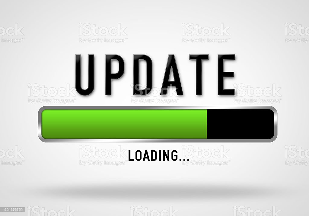 Update - loading bar stock photo