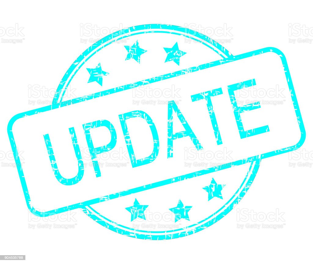 Update rubber stamp - illustration stock photo