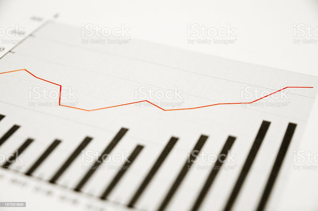 upgoing data graph stock photo