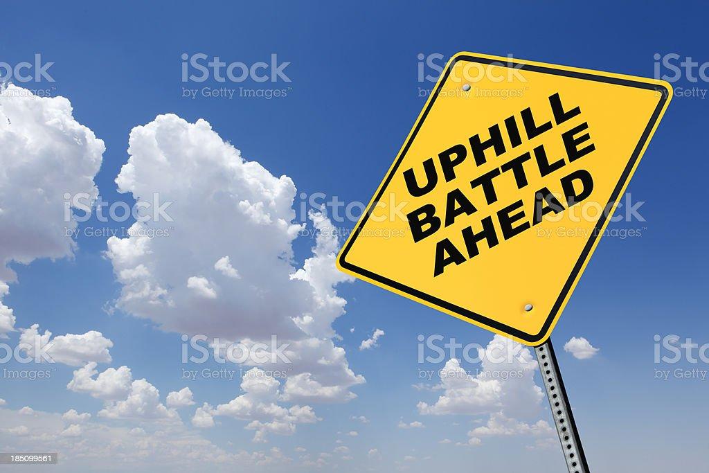Uphill Battle Ahead royalty-free stock photo