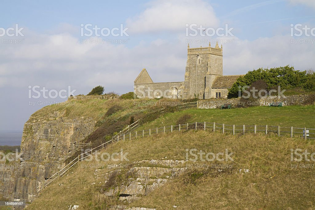 Uphill church Weston-super-Mare Somerset royalty-free stock photo