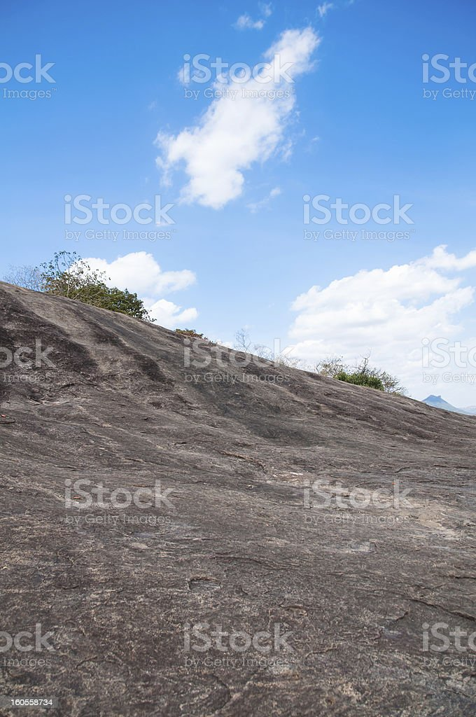 Uphill rocky path to the top royalty-free stock photo