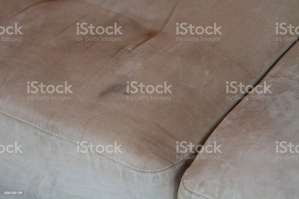 Upholstery stain stock photo