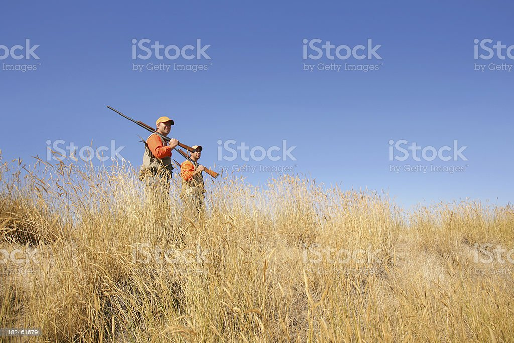 upland game hunting stock photo